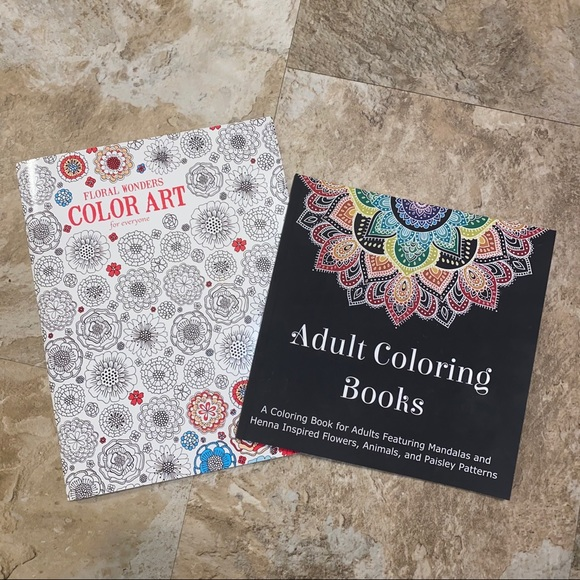 Adult coloring books, never used